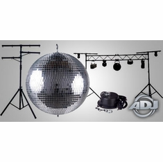 MIRROR BALLS AND LIGHTING STANDS