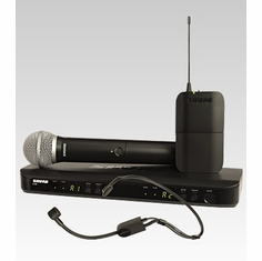SHURE BLX1288/P31-J10 Dual Channel Combo Wireless System features BLX2 with PG58 and PGA31 Headset Microphone
