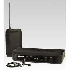 SHURE BLX14/CVL-J10 Instrument Wireless System features CVL Lavalier Microphone