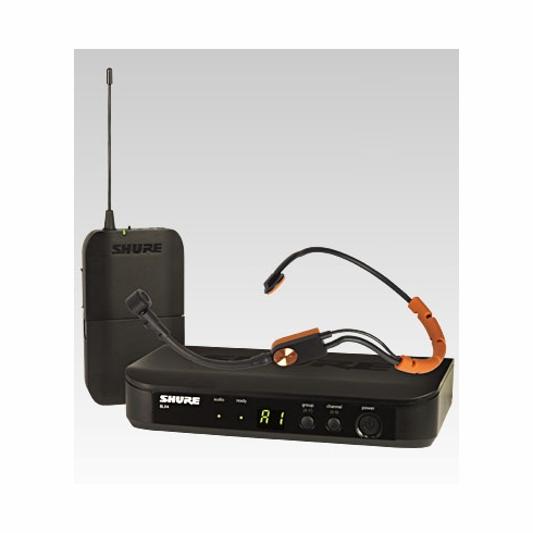 SHURE BLX14/SM31-J10 Headworn Wireless System features SM31FH Fitness Headset Microphone
