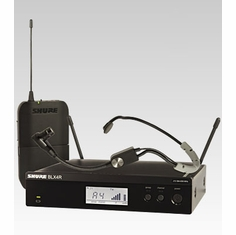 SHURE BLX14R/SM35-H8 Headworn Wireless System features SM35 Headset Microphone