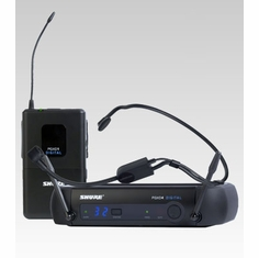 SHURE PGXD14/PGA31-X8 Headworn Wireless System features PGA31 Headset Microphone