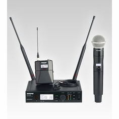 SHURE ULXD124/150/C-J50 Combo Wireless System features SM58 Handheld Microphone & MX150/C Lavalier Microphone