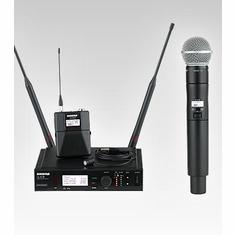 SHURE ULXD124/85-G50 Combo Wireless System features SM58 Handheld Microphone & WL185 Lavalier Microphone