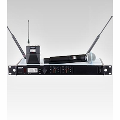 SHURE ULXD124D/B58-J50 Dual Channel Combo Wireless System features BETA 58A Handheld Microphone
