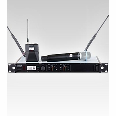 SHURE ULXD124D/B87A-H50 Dual Channel Combo Wireless System features BETA 87A Handheld Microphone