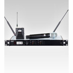 SHURE ULXD124D/B87C-G50 Dual Channel Combo Wireless System eatures BETA 87C Handheld Microphone