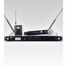 SHURE ULXD124D/SM58-J50 Dual Channel Combo Wireless System features SM58 Handheld Microphone