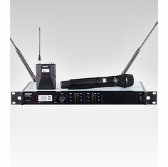 SHURE ULXD124D/SM87-L50 Dual Channel Combo Wireless System features SM87A Handheld Microphone