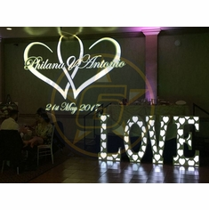 SIX STAR D�cor LOVE 45 Inch Tall White LOVE letters