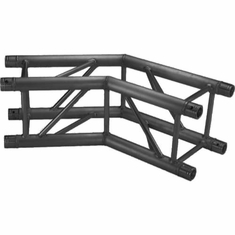 SQ-4123 BLK 2 WAY 135 DEG. CORNER BLACK POWDER COAT - GLOBAL TRUSS / DURA TRUSS