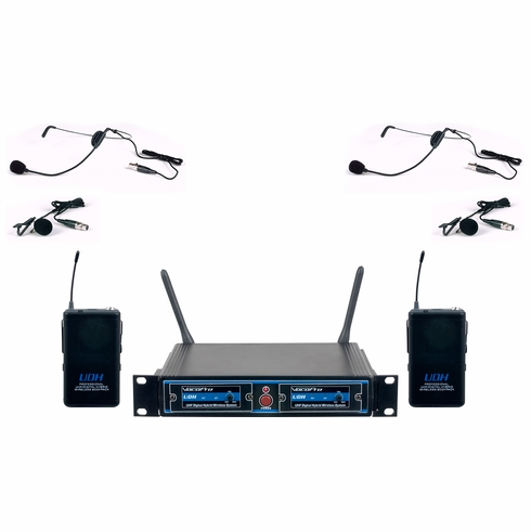 VOCOPRO UDH-DUAL-B2 PRO UHF/DIGITAL HYBRID WIRELESS BODYPACK (907.2 909.8)