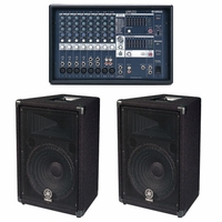 YAMAHA EMX212S/BR12 BUNDLE, Powered Mixer & Speakers