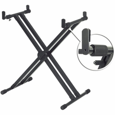 YAMAHA YKA7500 Professional Double X-Style Keyboard Stand with Telescoping Arms