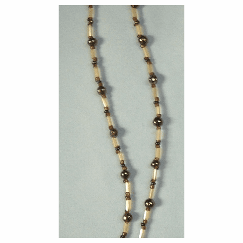 Bronze & Brown Eyeglass Chain or Necklace