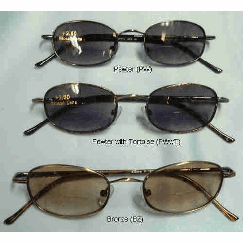 Classic Bifocal Sunglasses With Spring Hinges +1.00-+4.00