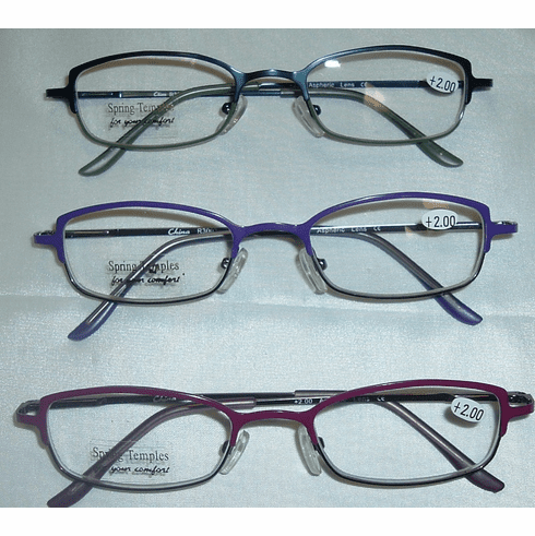 Fashion Colored Metal Frame Reading Glasses