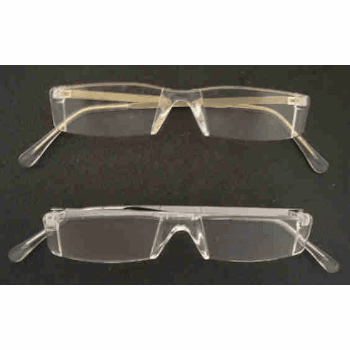 Rimless Lucite Half Reading Glasses