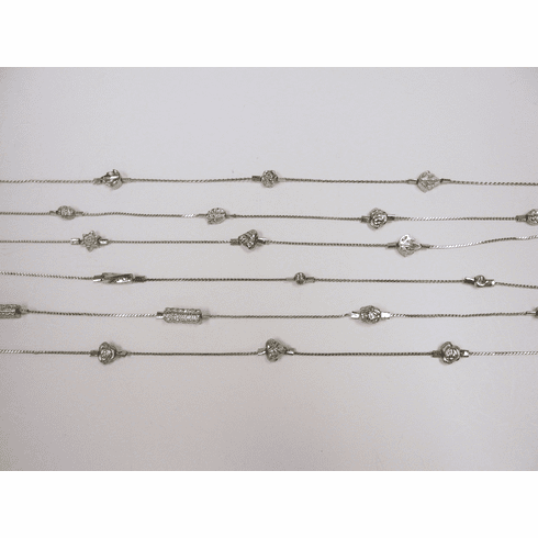 Silver Eyeglass Chain or Necklace
