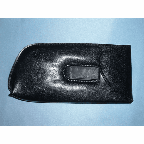Slip-In Full Eyeglass Case With Pocket Clip, Flap, & Boxed Bottom