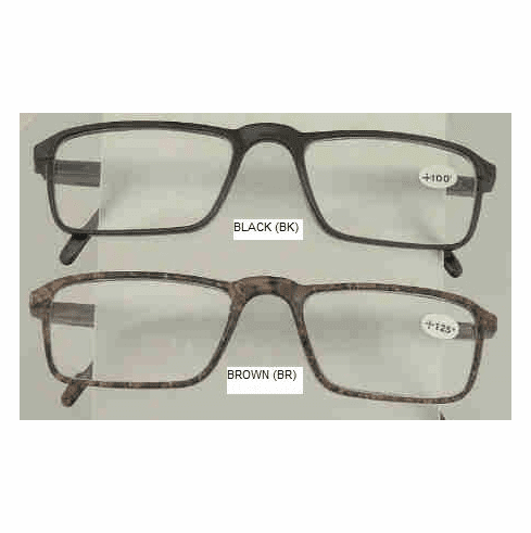 Spring Hinged Reading Glasses With Pocket Clip