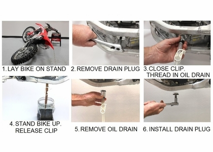 CRF EZ Oil Drain System by Works Connection