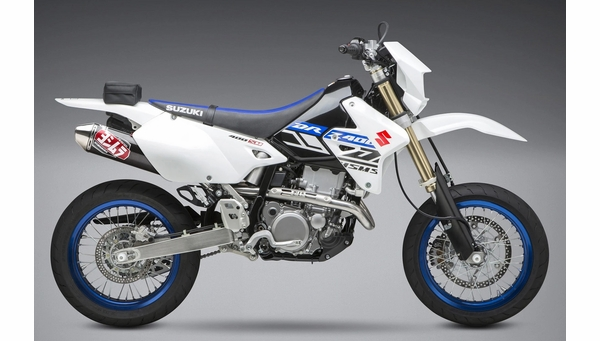 DRZ400SM DRZ400S Yoshimura RS-2 Stainless / Carbon Exhaust Package