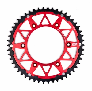 G2 Dually Steel Ring Rear Sprocket Honda Red