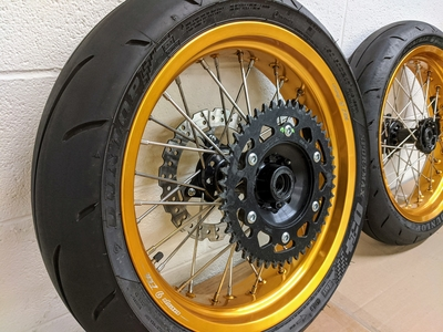 USED: CRF450L Warp 9 Supermoto Wheels With Tires