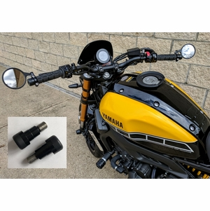 XSR900 XSR700 MT-09 MT-10 Bar End Sliders with Mirror Mounts