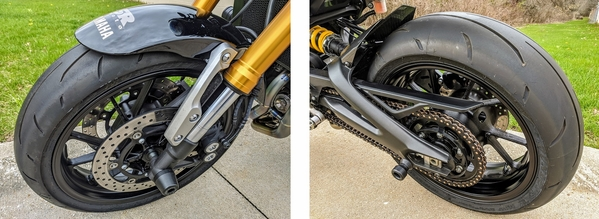Yamaha XSR900 and MT-09 Tires