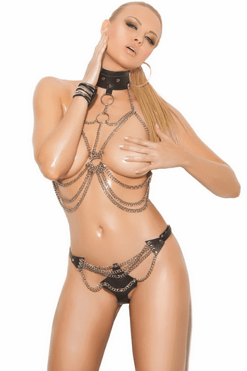 Chain Vest & Thong Set