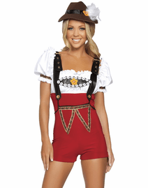4 PC Beer Stein Babe Costume