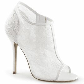 5 Inch Lace Open Toe Bootie