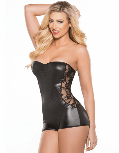 All About Curves Wet Look Romper