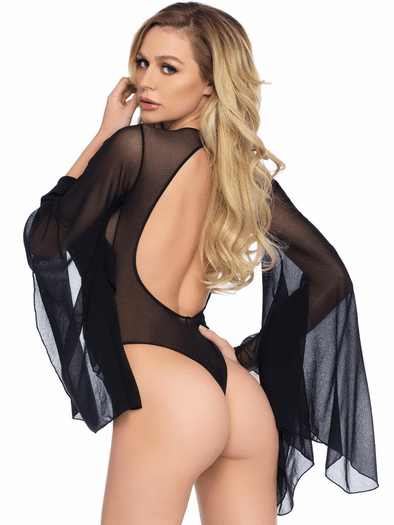 All About Me Mesh Snap Crotch Bodysuit
