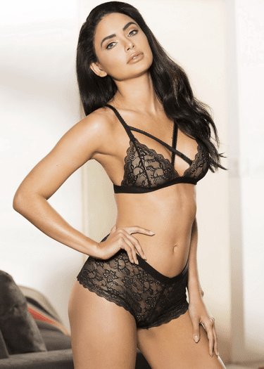 All At Once Lace Bralette & Panty Set