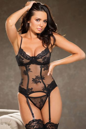 All Over Lace Bustier