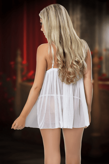 All Through The Night Bridal White Babydoll