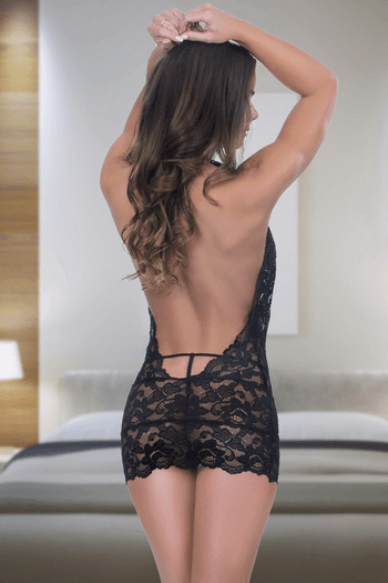 Alluring Lace Chemise Set