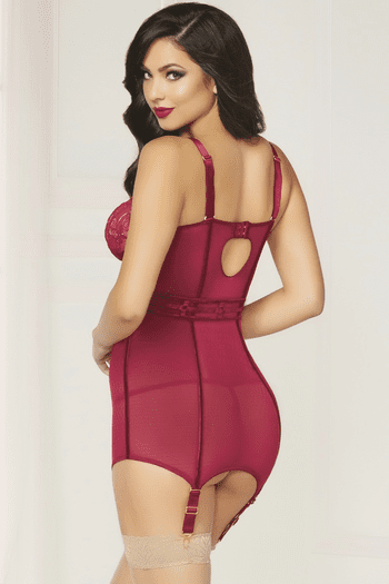 Always Loving You Lace Chemise & Thong Set