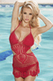Amelia Red Crochet Monokini