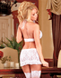 Angelic Lace Lover Bra, Ruffle Skirt, & Thong Set