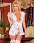 Angelic Lace Lover Wrap & Thong Set
