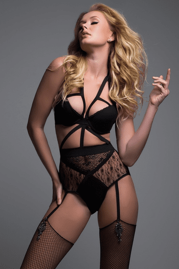 Black Angelic Lace Teddy