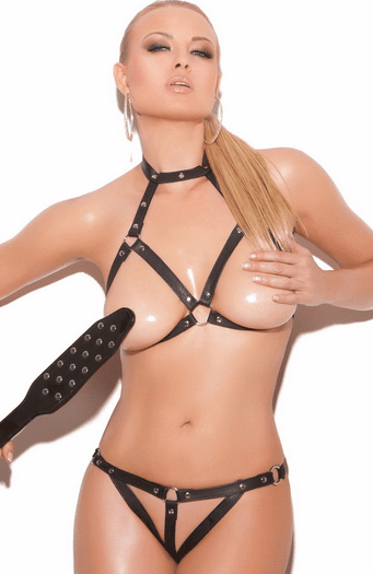 Angry Love Sexy Open Cup Bra Set