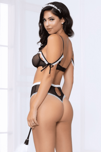 At Your Service French Maid Bra Set