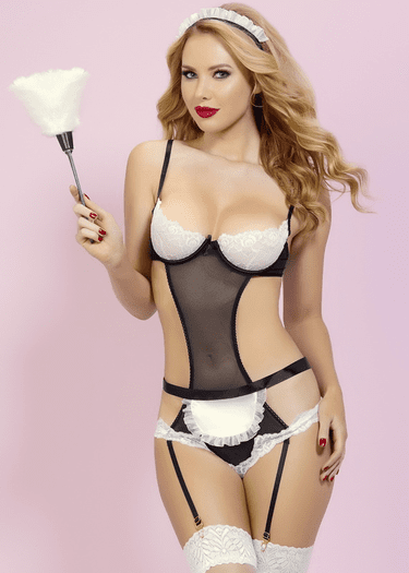 At Your Service French Maid Teddy Set