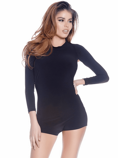 Back Off Sexy Long Sleeve Romper