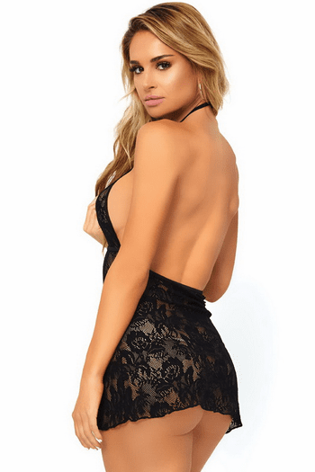 Backless Lace Chemise